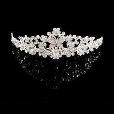 Bridal Wedding Princess Pageant Prom Crystal Tiara Crown Tiaras – USD $ 4.99