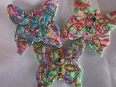 Butterflies ready to be made into earrings by Lori Von der Puetten