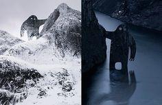 Monster-Munch Rockface Photo Remix Monsters