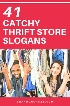 41 Catchy Thrift Store Slogans and Clever Taglines Catchy Taglines, Catchy Slogans, Catchy Names, Store Names Ideas, Shop Name Ideas, Shop Ideas, Resale Clothing, Love Clothing, Thrift Shop Outfit