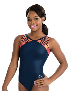 Navy & Orange Tank Leotard from GK Elite