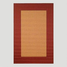 One of my favorite discoveries at WorldMarket.com: Red Border Indoor-Outdoor Rug