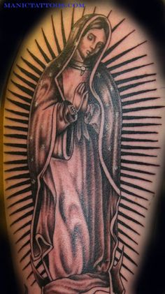 Virgin Mary of Guadalupe Tattoo | Off The Map Tattoo Tattoos Religious Mary Virgin Guadalupe