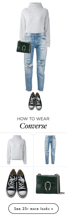 """Untitled #508"" by isabellakongerskov on Polyvore featuring Le Kasha, Levi's, Gucci and Converse"