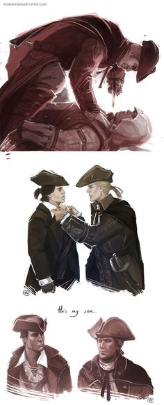 Assassin's Creed 3 - Connor x Haytham by maXKennedy||*crawls in to corner and cries* the feels are real...