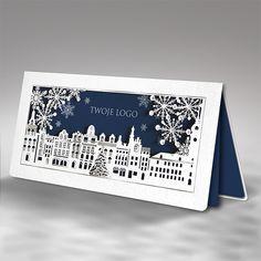 christmas cards modern art laser cut