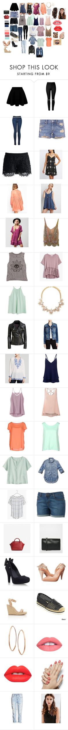 """""""capsule wardrobe spring/summer 2016"""" by jademab on Polyvore featuring mode, Lovers + Friends, Chicwish, Charlotte Russe, Forever 21, ...Lost, Cynthia Rose, Billabong, MANGO et Jean Shop"""