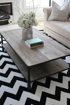 LOVE the table and rug!