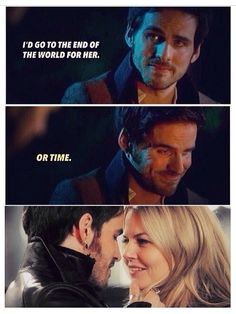 """""""I'd go to the end of the world for her or time"""" My #CaptainSwan feels I just can't <3 <3"""