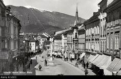 Adolf Hitler Platz (1933-1945) / Hauptplatz, Villach, Austria - postcard of market square Renamed Hauptplatz