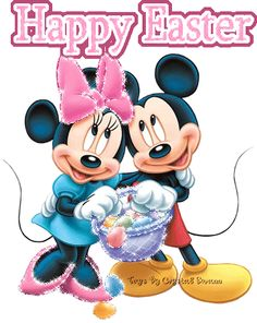 Happy Easter, Disney, Minnie, Mickey, mouse photo easter_mm.gif
