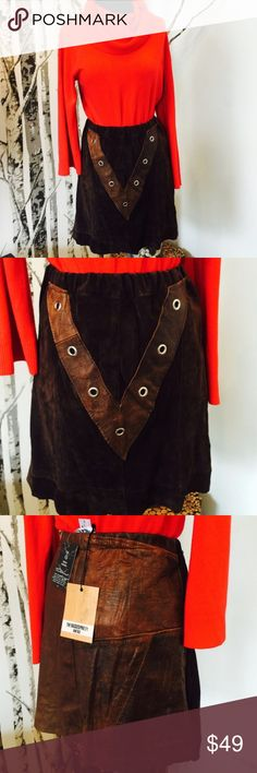 ❗️1 LEFT Urban Outfitters Leather Skirt NWT $75! ❗️LAST CHANCE❗️Urban Outfitter's The Ragged Priest Leather Skirt. NWT retails $75. Size large. Fitted. Feel free to make an offer! Im selling to first reasonable offer i receive! Or enjoy 30% off bundles! Asap shipping :-) Urban Outfitters Skirts