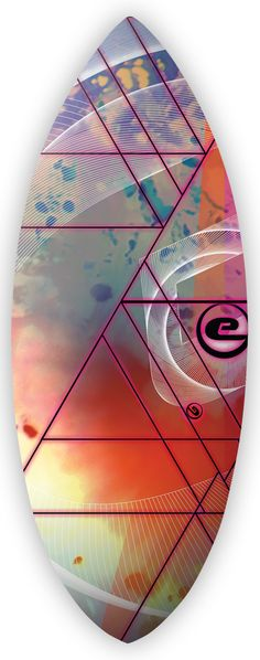 Exile Skimboards Triangulated Boardart by Richard de Rujiter
