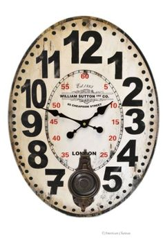 Special Offers - Large 24 London William Sutton & Co. Oval Decor Pendulum Wall Kitchen Clock - In stock & Free Shipping. You can save more money! Check It (July 05 2016 at 06:29PM) >> http://wallclockusa.net/large-24-london-william-sutton-co-oval-decor-pendulum-wall-kitchen-clock/