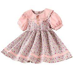 Robe de Filles Filles Enfants Robe Florale Pleine Dentelle Robe dune Seule Pi/èce Robe de Ppartie de Princesse denfant pour 0-7Ans Fille