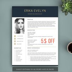 Creative resume template for word pages complete 123 pages creative resume template for pages and ms word by visiontemplates yelopaper Choice Image