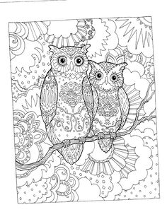 Leather Crafts Adult Coloring Colouring Books Owls Craft Vintage Owl Pages