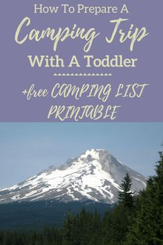 How To Prepare A Camping Trip With a Toddler with Printable - Tickled Scarlett Blog