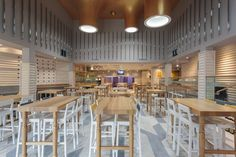 The Cribbar (Newquay, UK) / Absolute Design - Restaurant & Bar Design Awards Coffee Shop Interior Design, Pub Design, Retail Design, Restaurant Design, Restaurant Bar, Restaurant Interiors, Store Design, Bar Design Awards, Bares Y Pubs