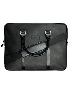 Vegan Vegetarian Non-Leather Womens Slim Briefcase in Black