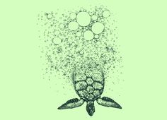 Sea turtle tattoo- as if its coming out of my skin---My hunny says I have salt water in my veins... so why not express that..