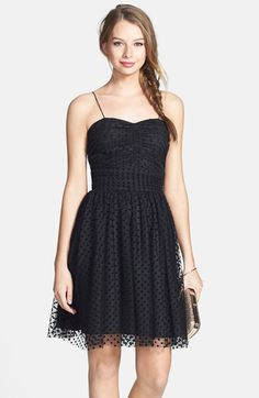 Hailey by Adrianna Papell Polka Dot Fit & Flare Dress available at #Nordstrom