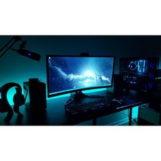 """492 Likes, 1 Comments - Mal - PC Builds and Setups (@pcgaminghub) on Instagram: """"I'm not sure what it is but I'm REALLY digging this bluey turquoise colour. By: u/AeonFX. Check…"""""""