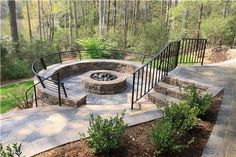 gas firepit wood deck - Google Search