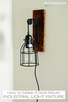 Fresh Farmhouse DIY Projects - Page 3 of 12 - The Cottage Market Diy Light Fixtures, Industrial Light Fixtures, Industrial Lighting, Kitchen Lighting, Industrial Kitchen Design, Industrial Style, Design Furniture, Diy Furniture, Diy Wall