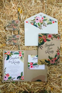 Country Wedding Stationery by Urban Weddings. http://www.forevaevents.com.au/portfolio/hay-were-hitched/