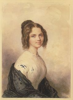 Anne Charlotte Lynch (Later Mrs. Vincenzo Botta) Savinien Edme Dubourjal  (1795–1865) Date: ca. 1847 Medium: Watercolor and lead-white gouache on smooth-surfaced off-white wove paper Dimensions: 7 1/4 x 5 1/4 in. (18.4 x 13.3 cm) Classification: Drawings
