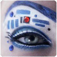 R2D2 eye makeup