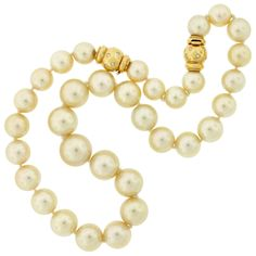 Striking Golden South Sea Pearl Necklace