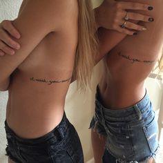 "Sister tattoos ""I wish you enough"" poem. @jillyyy_n"