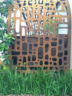 recycled corten with an organic feel