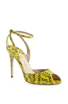 Paul Andrew Yellow Snakeskin Sandal