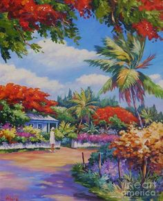 Summer Colours. A pastoral scene from Lower Valley, Grand Cayman. Print available at: http://fineartamerica.com/featured/lower-valley-john-clark.html