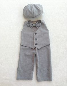 Page Boy Outfit Ring Bearer Outfit Boy First by fourtinycousins