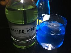 Drink 112 of 366 for 2016 - Archie Rose Signature Dry Gin and tonic. With just a little UV light for effect.