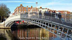 Five Great Family Destinations in Ireland.  Dublin's landmark Ha'Penny Bridge, itself a popular family destination in Ireland.
