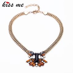 New Styles 2017 Fashion Jewelry Antique Vintage Resin Plant Pendant Necklace For Christmas Gifts