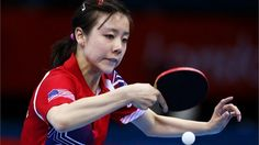 Ariel Hsing of USA plays a backhand in the Table Tennis  Ariel Hsing of USAplays a backhand against Yadira Silva of Mexico during their Women's Singles Table Tennis match on Day 1 of the London 2012 Olympic Games at ExCeL on 28 July2012.