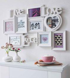Dieser Bilderrahmen ist wirklich wunderschön und romantisch. Fülle Ihn mit Postkarten, Fotos oder anderen Erinnerungsstücken und gestalte so deine ganz persönliche Erinnerungswand. Als weitere Dekorationsmöglichkeit bietet sich hier eine Lichterkette an, um den Bilderrahmen zum absoluten Highlight zu machen #Wohnideen