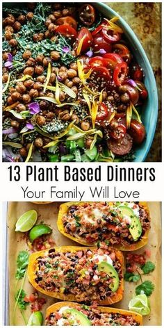 Mar 18, 2020 - If joining the plant-based based movement or incorporating more plant-based meals into your everyday eating habits is looking attractive, we guarantee these 18 plant-based dinner recipes will have you loving a few meatless suppers. Healthy Recipes, Vegan Dinner Recipes, Whole Food Recipes, Diet Recipes, Easy Recipes, Raw Vegan Dinners, Easy Vegan Dinner, Dinner Healthy, Cream Recipes
