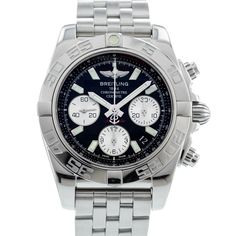 Buy an authentic used Breitling Chronomat 41 watch from our Breitling collection. Save up to on all pre owned watches at Crown and Caliber. Breitling Chronomat, Breitling Watches, Sport Watches, Cool Watches, Watches For Men, Men's Watches, Stylish Watches, Stainless Steel Watch, Stainless Steel Bracelet