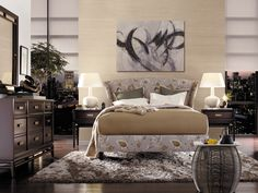 Upholstered #bed by Thomasville #bedroom #furniture #baconsfurniture #home