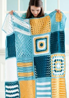 Back-to-Square-One Blanket | Crochet Today! magazine, Sept/Oct 2013 - designed by Marty Miller