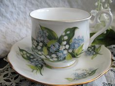 Vintage Royal Albert Lily of the Valley by WhenRosesBloomShop