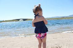 Cute floral swim diaper. only $5 by Alva Baby cloth diapers. Reusable swim diaper