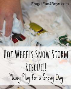 Hot Wheels Snow Storm Play